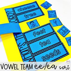 Long E Vowel Teams ee ea phonics activities and games - Smitten with First