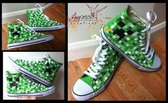 Custom Painted Converse Style Creeper Shoes by Aurasoft on Etsy, £50.00