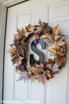 Fall Wreath Idea #1  (use local pine cones!)