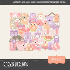 Baby's Life: Girl Digital Art Kit