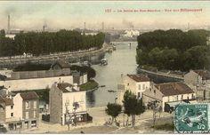 """Paris exposition 1867. Les tout nouveaux """"bateaux-mouches"""" reliaient l'expo à l'île de Billancourt, l'annexe agricole. (photoe carte postal 1900) http://www.expositions-universelles.fr/1867-pavillons-russes.html"""