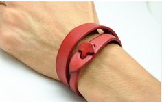Leather bracelets - Genuine soft red leather women leather jewelry from braceletcoo . - Leather bracelets – Genuine soft red leather women leather jewelry from braceletcool – - Leather Art, Leather Design, Leather Cuffs, Leather Jewelry, Red Leather, Leather Bracelets, Art Du Cuir, Crea Cuir, Jewelry Crafts
