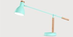Cohen Table Lamp, Arcade Green and Natural Oak | made.com