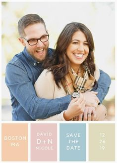 Modern Pastel Colors Save the Date Announcement Printable Save The Date Invitations, Pastel Colors, Announcement, Dating, Printable, Trending Outfits, Modern, Etsy, Vintage