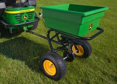 7 Spring-Ready John Deere Lawn Tractor Attachments  http://blog.machinefinder.com/13119/7-spring-ready-john-deere-lawn-tractor-attachments