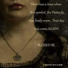 Photo: I wear mine proudly. Blessed be Wiccan Witch, Magick Spells, Witchcraft, Wiccan Chants, Voodoo Hoodoo, Pagan Jewelry, Pentacle, Book Of Shadows, Spelling