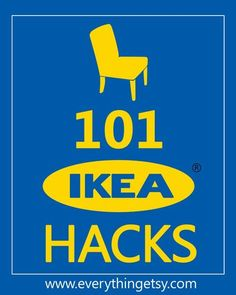 101 Ikea Hacks...you will love these!!!  #ikea #hack #diy
