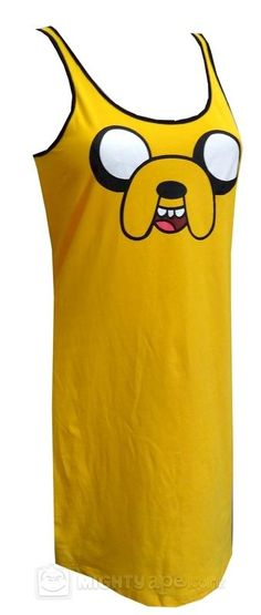 ace42eb3 Adventure Time Jake Nightie Womens Nighties, Jake The Dogs, Culture  Clothing, Adventure Time