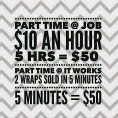 It really is that easy! Make a full time paycheck with a part time job! It Works Global, My It Works, You Tried, Told You So, It Works Distributor, It Works Products, Free Products, Beauty Products, Crazy Wrap Thing