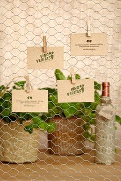 Unique Business Card, Vino Veritas #BusinessCards #Design