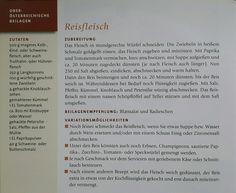 """Rezept für Reisfleisch aus dem Kochbuch """"Oberösterreichische Küche """" (Wagner / Pernkopf)"""