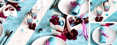 Tischdekoration zur Hochzeit in Venezia und Türkis