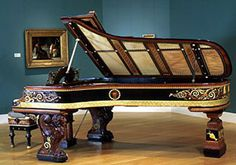 Steinway piano, Designed by Alma Tadema, 1887 Sound Of Music, Music Is Life, Lawrence Alma Tadema, Old Pianos, Piano Man, Empire, Piano Music, Violin, Harp