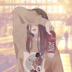 Anime Art, Girly Art, Cute Art, Anime Scenery, Cute Drawings, Anime Drawings, Aesthetic Anime, Cartoon Art, Kawaii Art