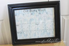 I've been wanting one of those framed wall calendars, this one looks cute and easy to make!