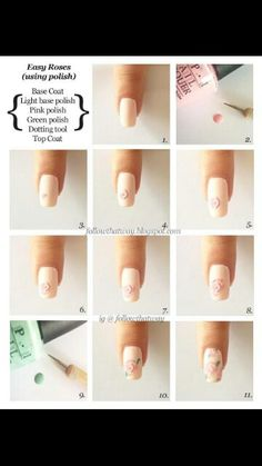 How to make roses for nail art.