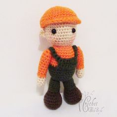 Little Joey just loves orange and green. He also loves his hat and just can't go any where without it. He loves to jump and run and just have lots of fun! This little cutie is sure to bring a smile to your face.