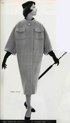 1957 Christian Dior I made one like this in Grey, but without the pockets.