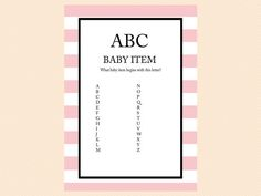 ABC Baby Item Game A to Z Game Printable Baby by MagicalPrintable