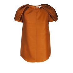 Carven Gazar Top Rust ($380) ❤ liked on Polyvore