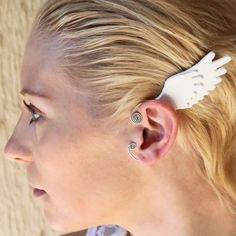 Valkyrie wing ear bangles  No piercing required  swan / by GimmCat
