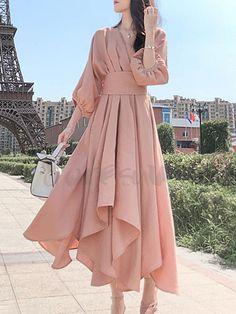 Korean Fashion Dress, Indian Fashion Dresses, Girls Fashion Clothes, Muslim Fashion, Modest Fashion, Fashion Outfits, Korean Dress, 80s Fashion, Stylish Dress Designs