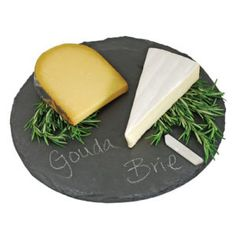 Round Black Slate Board Cheese Serving Tray With Soap Stone Chalk Great Gift in Home & Garden, Kitchen, Dining & Bar, Dinnerware & Serving Dishes Slate Board, Slate Cheese Board, Cheese Platter Board, Cheese Platters, Cheese Table, Cheese Boards, Types Of Cheese, Serving Plates, Serving Dishes