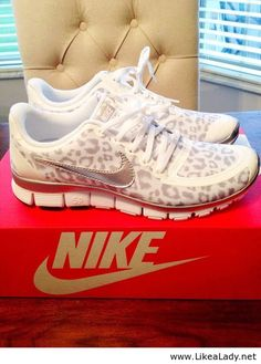 Oh yes! leopard print. nike. running shoes. perfection.