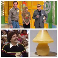 James appeared on our show in 1985, he came back in 2013 with his daughter as part of our Father's Day Episode. in 1985 he won the lamp pictured here...but when he met his wife...she threw it away!