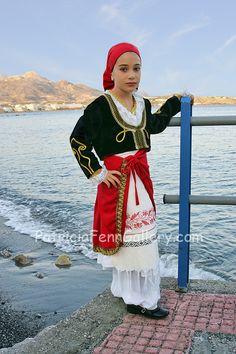 Crete costume 2  young Cretan girl in traditiomal Crete costume. © Patricia Fenn. All Rights Reserved.