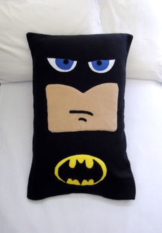 Batman Fleece Pillow Case, DC Comics by PatternsOfWhimsy on Etsy