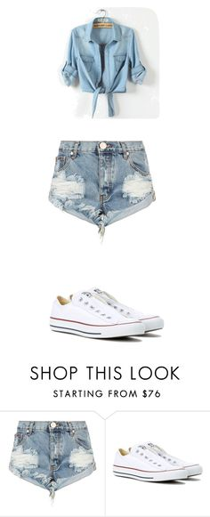 """Summer Outfit"" by quadivaedwards on Polyvore featuring One Teaspoon and Converse"