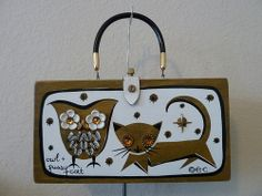 Enid Collins of Texas Owl & Pussy Cat Purse
