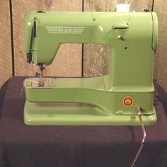 Vintage Elna Sewing Machine. My Nana had one of these machines and it was the most powerful addition to my sewing experience as a kid.