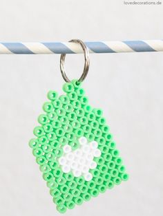 DIY key ring made of iron beads |  Just Bead It by trytrytry *  #beads #trytrytry
