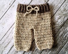 Items similar to Crochet Baby Shorts/Pants with Suspenders- Diaper Cover in Stonewash Newborn to 6 Month Size- MADE TO ORDER on Etsy