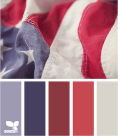 patriotic hues, from Design Seeds.  My own comment, There are no words in any human language to adequately thank the fallen soldiers for the price they paid. God bless the ones gone before and their families and friends left behind.