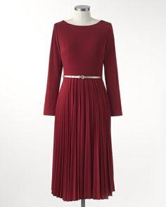 Vivid pleated dress