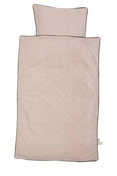 Ferm Living Dekbedovertrek Little Dot 3 maten(adult, junior en baby)  roze organisch katoen