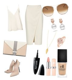 """Date"" by hhhelena-1 on Polyvore featuring Anine Bing, Acne Studios, Casadei, Nine West, e.l.f., Rebecca Minkoff, Maybelline, Chloé and Escalier"