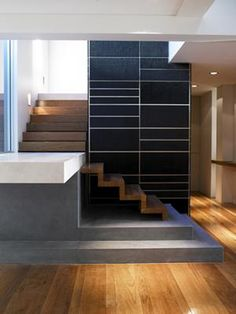 Contemporary Wood Staircase - A World of Luxury by Interior Designer Laura Bielecki