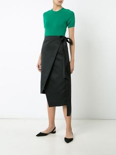 Rochas asymmetric wrap skirt