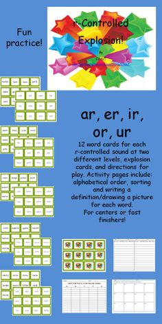 $3.00  Fun, fast-paced activity for practice with r-controlled words.  Great for center time or any time!