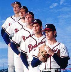 Greatest Pitching Staff Of All Time...  (John Smoltz, Tom Glavine, Greg Maddox, Steve Avery & Pete Smith)