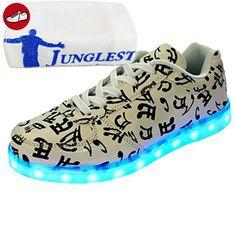 [Present:kleines Handtuch]Weiß EU 38, und für Sneaker weise Outdoorschuhe Kinder Laufschuhe LED-Licht Leuchtend Schuhe Herren 7 Damen Sportschuhe aufladen Wechseln JUNGLES