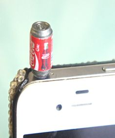 I found 'coke can phone plug' on Wish, check it out!