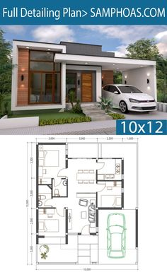 Simple Home Design Plans With Photos Simple House Plans With 2 Bedrooms Shed Roof House Plans 3 Bedrooms Home Design Plan Modern House Plans Simple Simple House Design Inspi. Modern House Floor Plans, Simple House Plans, Simple House Design, Contemporary House Plans, Simple Bungalow House Designs, House Design Plans, Simple Floor Plans, Bungalow Floor Plans, Best Modern House Design