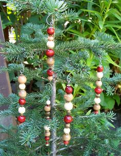 Christmas Tree Bead Ornaments