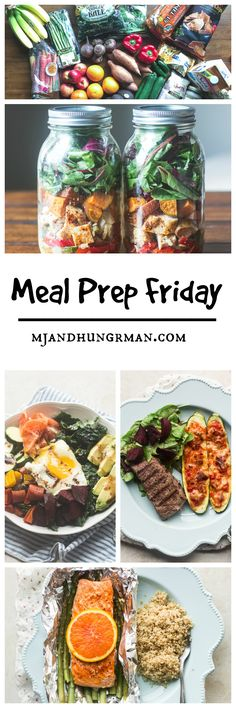 Meal Prep - Salmon and asparagus in foil + Chicken Fajita Mason Jar Salad + a cheesy-licious giveaway! @cabotcheese