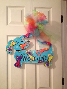 Whimsical Weinie Door Hanger for the Dog Lovers